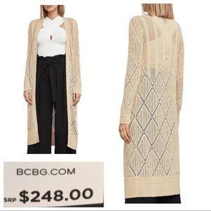 NWT! BCBGMAXAZRIA Charlee Knit Duster Cardigan